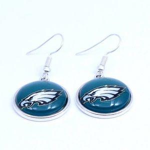 Philadelphia Eagles Drop Earrings-NWT-GIFT!
